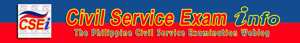 Civil Service Exam Information