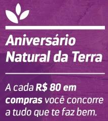 Promoção Natural da Terra Aniversário 2017 Concorra Prêmios