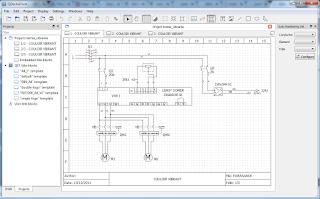 Screenshot 4 Qelectrotech Software Mengambar rangkaian listrik
