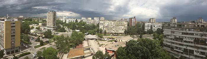 Panorama Fontane Novi Beograd, slikano sa iPhone 6s sa terase