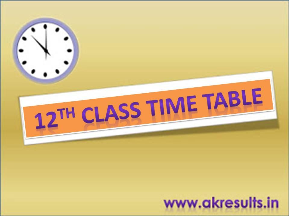 12th arts time table 2018 pdf