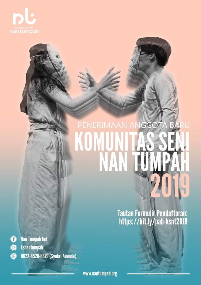 Penerimaan Anggota Baru Komunitas Seni Nan Tumpah 2019