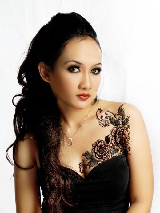 chest tattoos for women tattoo pictures. Black Bedroom Furniture Sets. Home Design Ideas