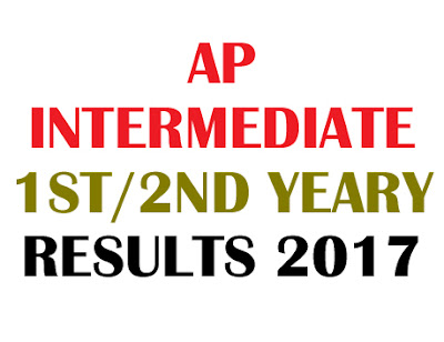 AP Inter 1st year Results 2017, AP Inter 2nd year Results 2017