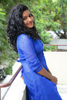 Telugu Actress Gayathri Hot Blue Dress Stills