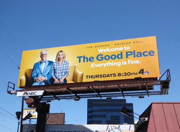 The Good Place series premiere billboard
