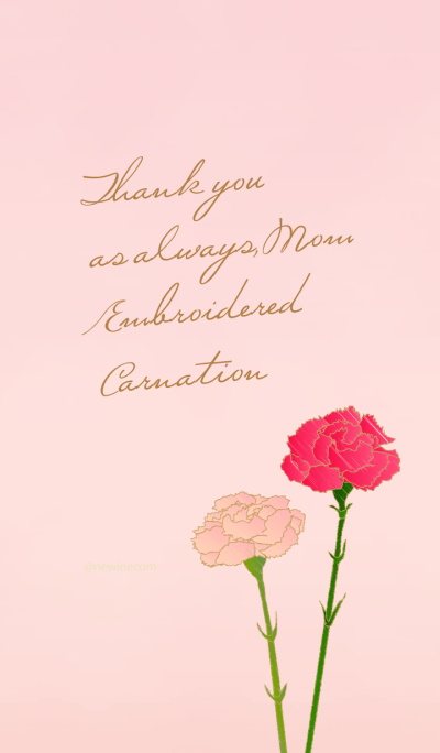 Thank you, Mom. Embroidered Carnation