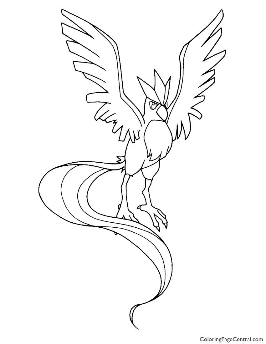 Pokemon Articuno Coloring Pages Printable Free Pokemon Coloring Pages