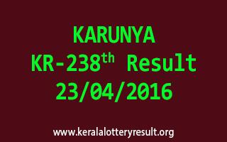 KARUNYA KR 238 Lottery Result 23-4-2016