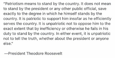 ROOSEVELT'S WORDS AND TODAY