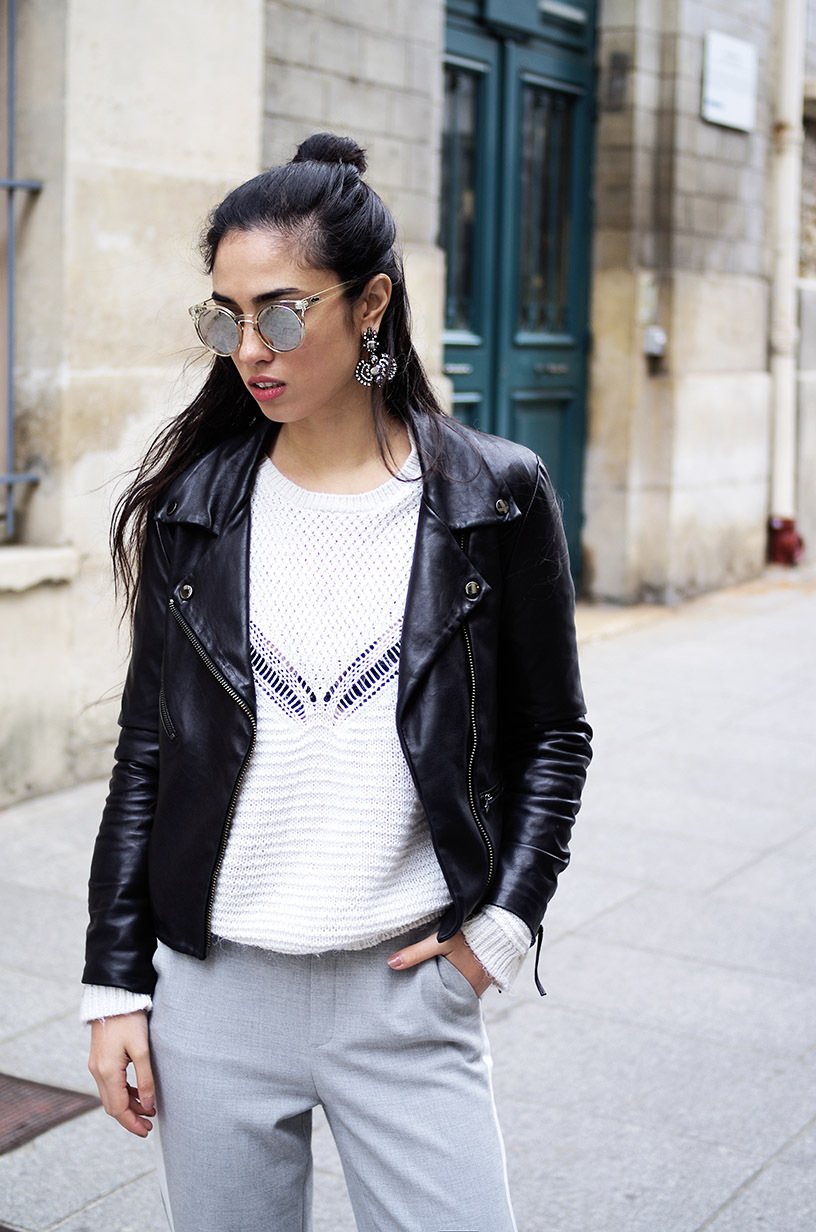 Elizabeth l Casual chic grey pants outfit l blog mode Zara Adidas l THEDEETSONE l http://thedeetsone.blogspot.fr