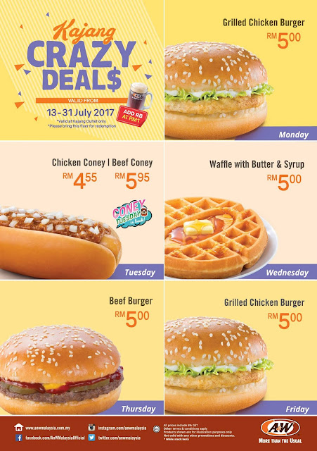 A&W Malaysia Kajang New Opening Offer
