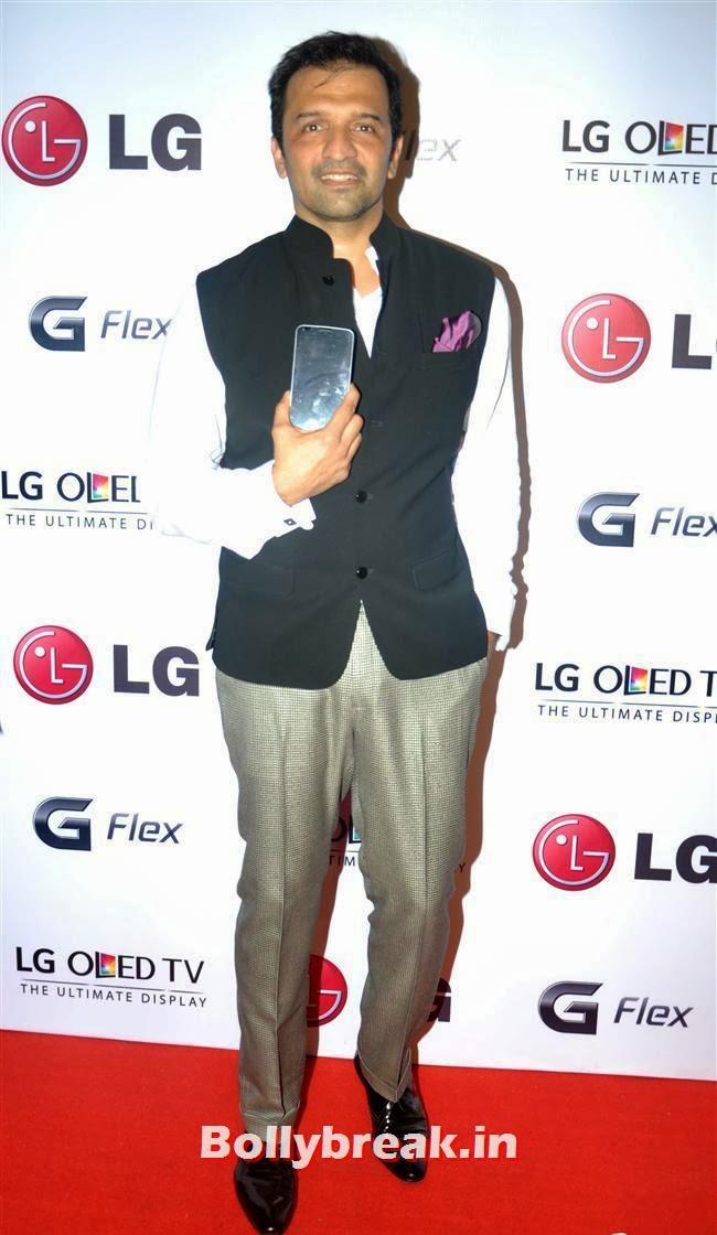 Atul Kasbekar, Celebs at LG G Flex Smartphone Launch