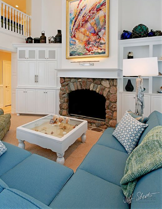 25 Small Cozy Beach Cottage Style Living Room Interior ...