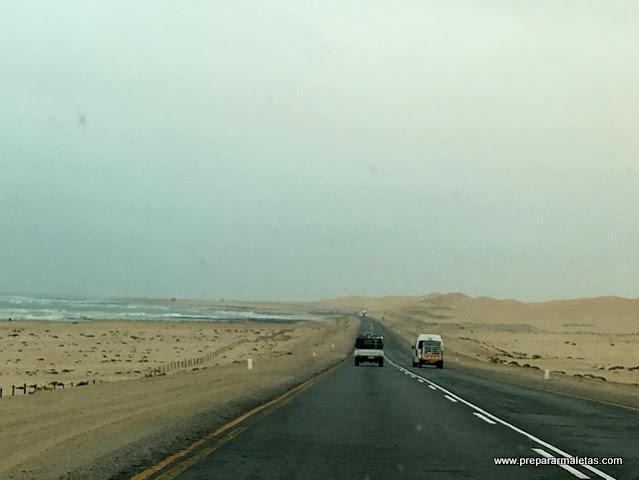 carreteras de las costa de Namibia