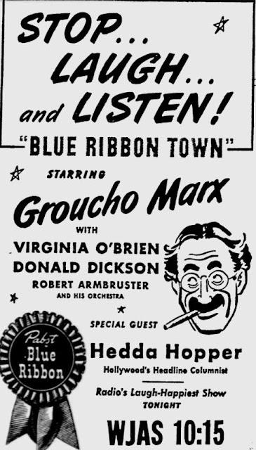 OTR Advertisements: Blue Ribbon Town (Pabst)