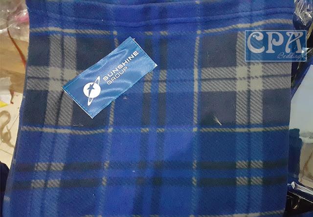 Chăn nỉ sản xuất cho Tập đoàn SunShine màu kẻ xanh