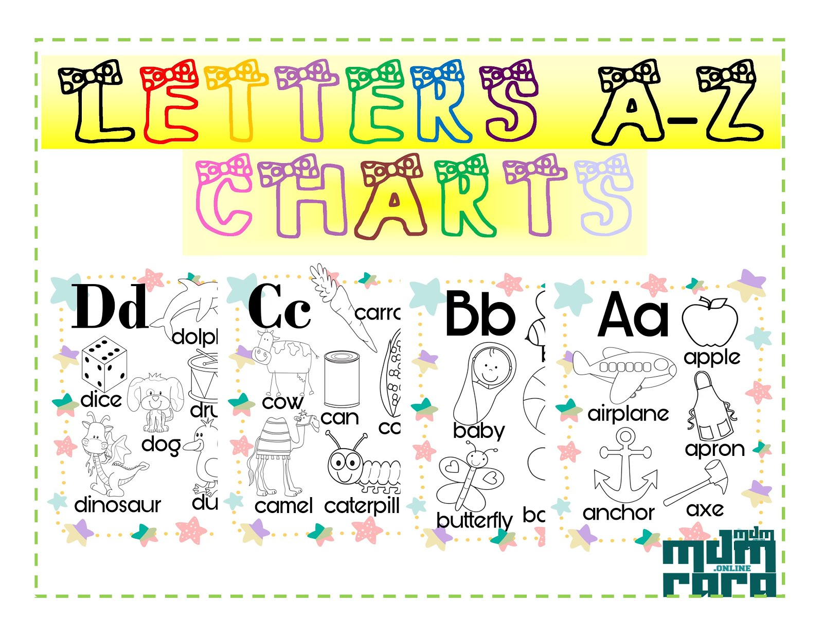Letter A Z Chart