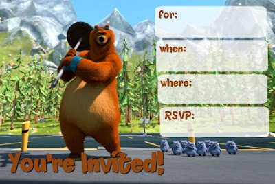 free Grizzly and Lemming party printables