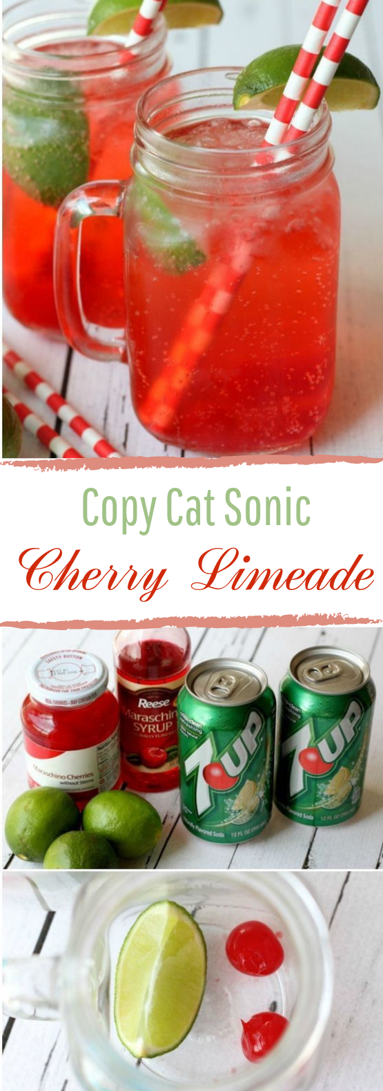 Copycat Sonic Cherry Limeade #nonalcohol #drinks