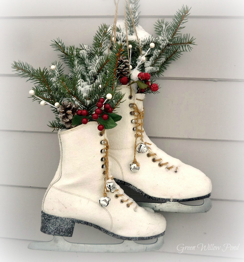 Green Willow Pond: Repurpose Old Ice Skates
