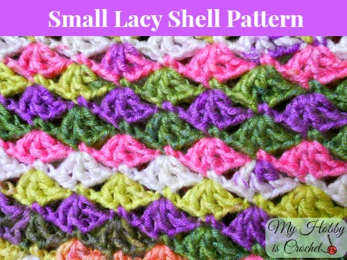 small lacy shell stitch crochet pattern