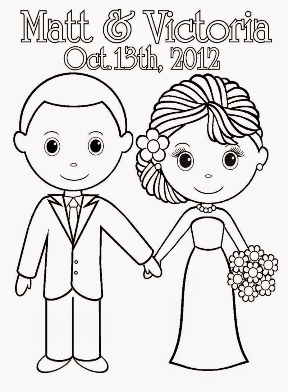 Wedding Coloring Sheets Free