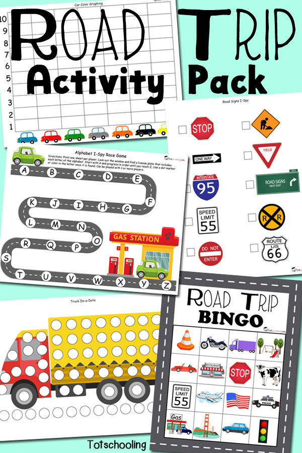 free printable road trip activity pack for traveling with kids featuring do a - Free Kids Printable Activities