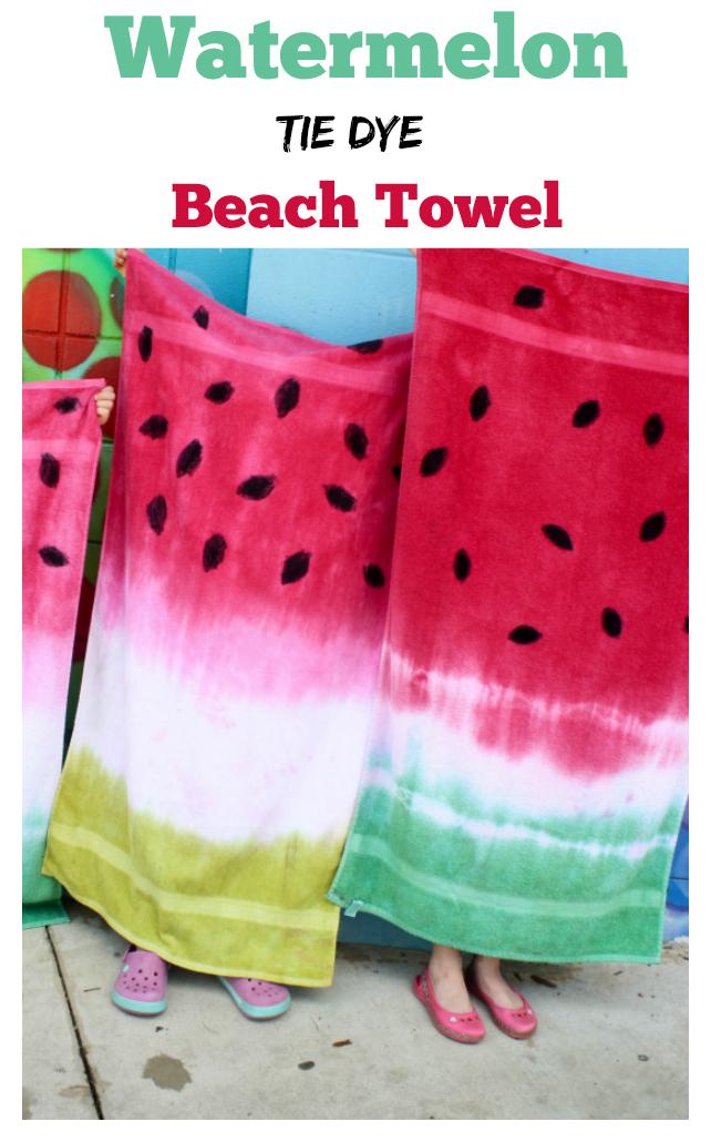 Having Fun At Home Watermelon Tie Dye Beach Towels