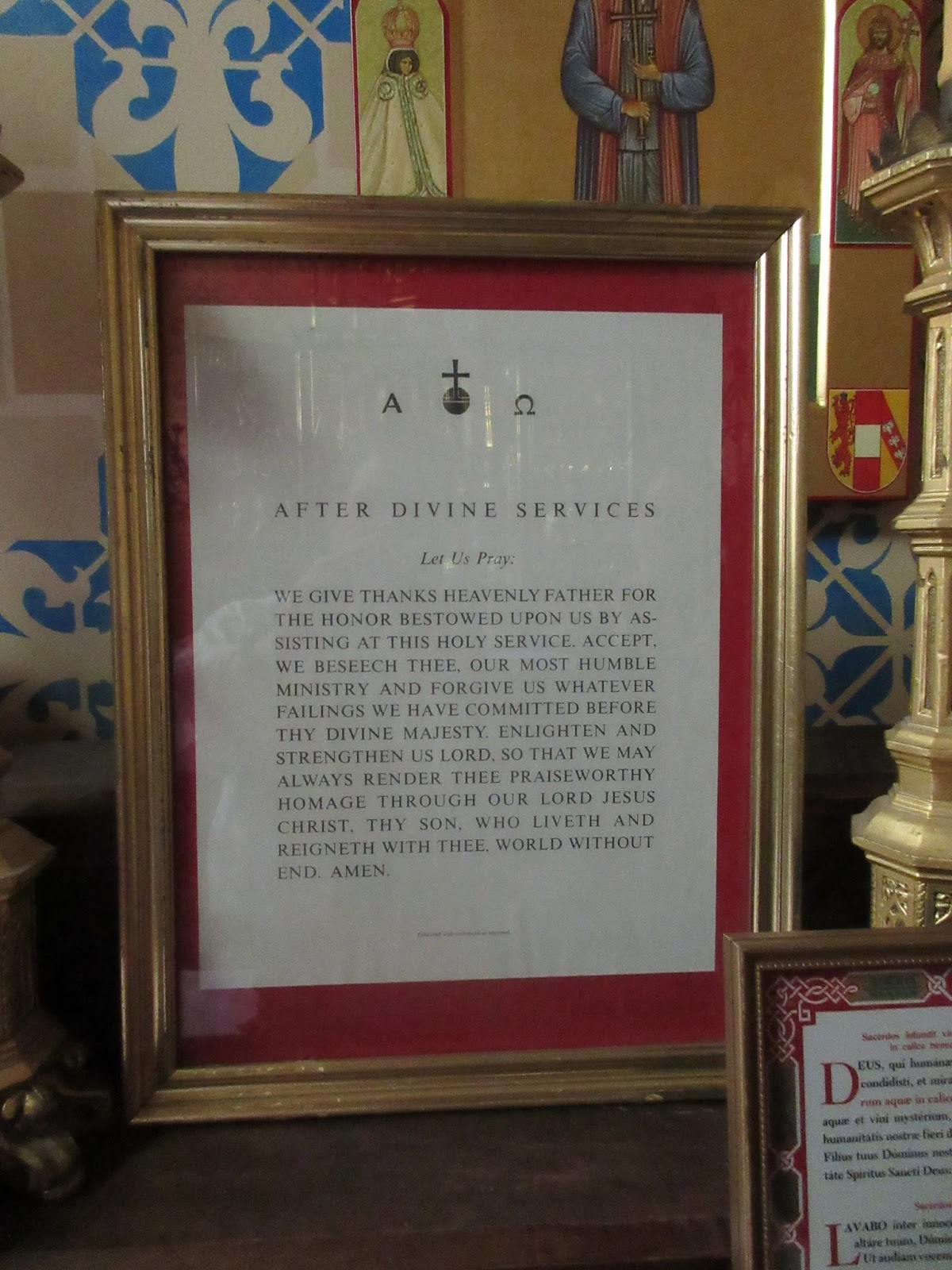 New liturgical movement perfect prayers for before and after the said that this was his favorite place to offer a morning private mass and that he and other canons often used the prayers on either side of the altar altavistaventures Images