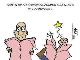 convocazioni, euro 2016, campionati europei, calcio, sport, Conte, CT, vignetta, umorismo
