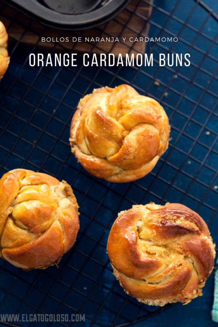 El gato goloso - Bollos dulces de naranja y cardamomo para el desayuno