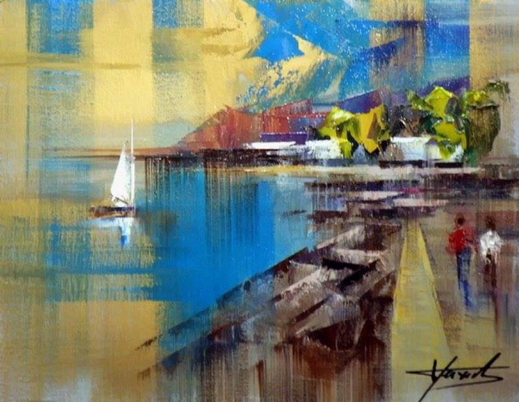 Cuadros modernos pinturas y dibujos la espatula en el - Pintar un cuadro moderno ...