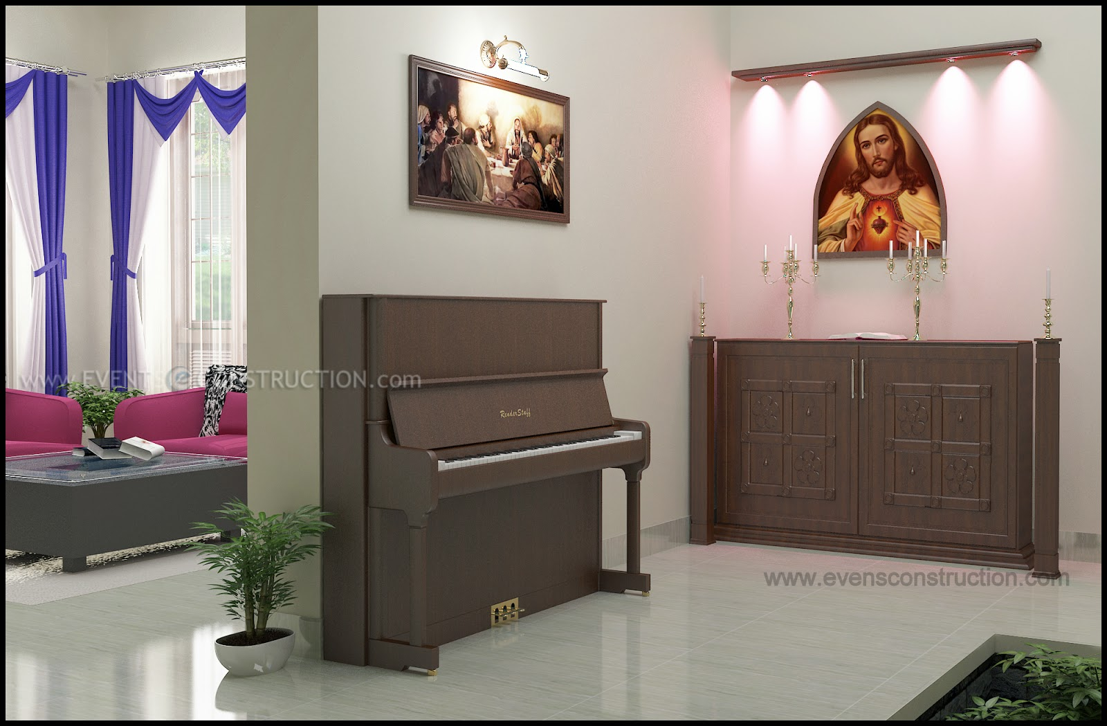 Prayer Hall With Piano Modern Bedroom Ideas Kids