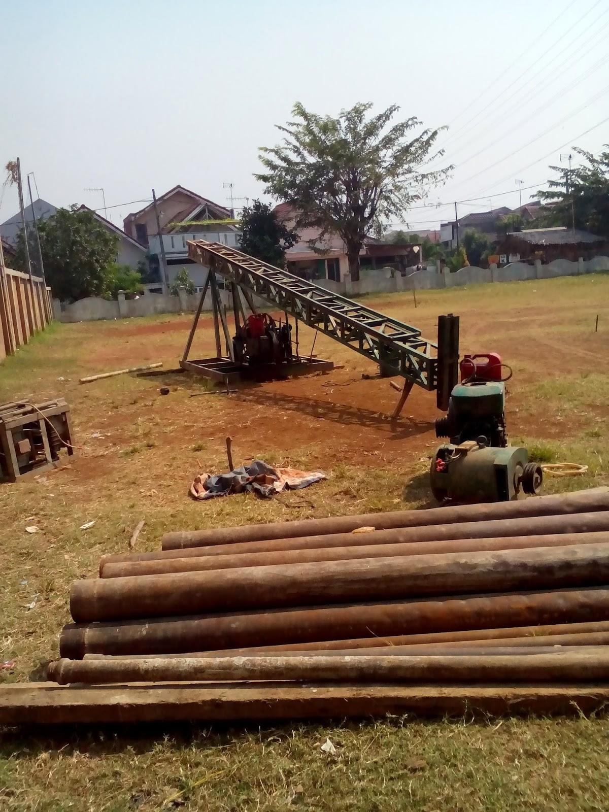 setting alat bor pile mini crane