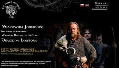 Zrzut strony grupy Jomsborg Vikings Hird