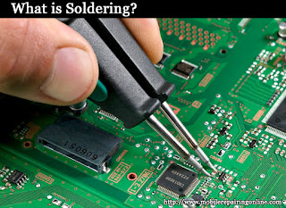 Soldering is a method of connecting electronic component and its copper print on a PCB together by melting another filler metal in between them