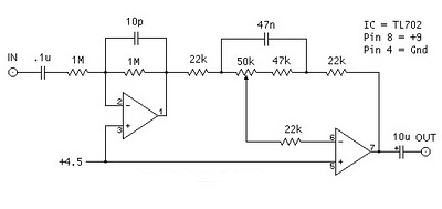 Megabass Circuit with TL072