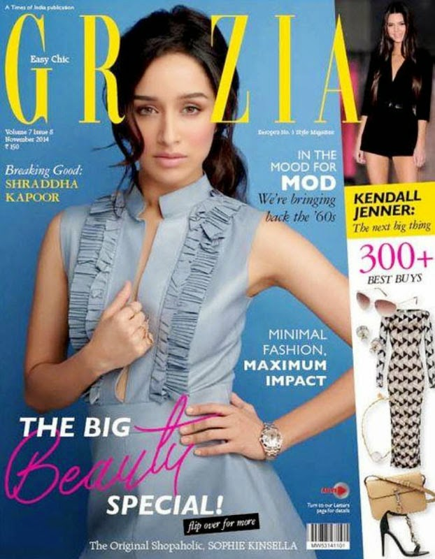 Shraddha Kapoor, Bollywood Actresses on Indian Magazines November 2014 Covers