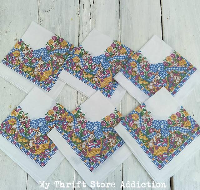 vintage Easter napkins