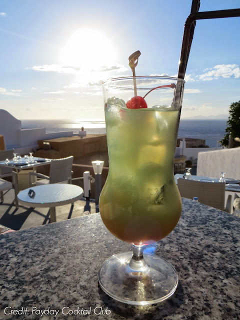 Cocktails at the Ochre Wine Bistro Santorini