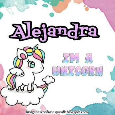 Imagenes de Unicornio con tu Nombre Alejandra