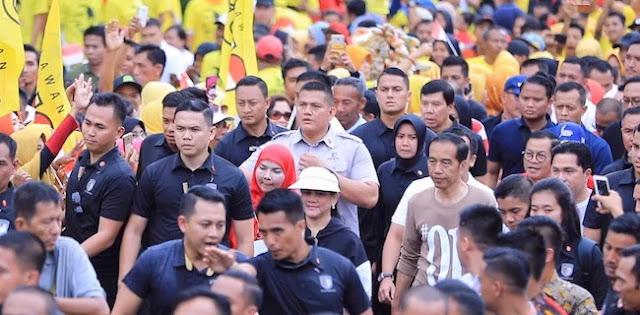 Jalan Sehat Jokowi di Lampung Diduga Eksploitasi Anak dan Mobilisasi ASN