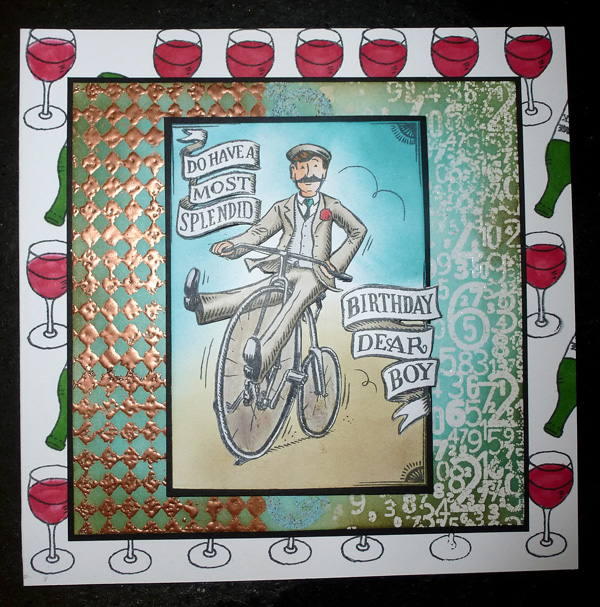 wine and bike mens card