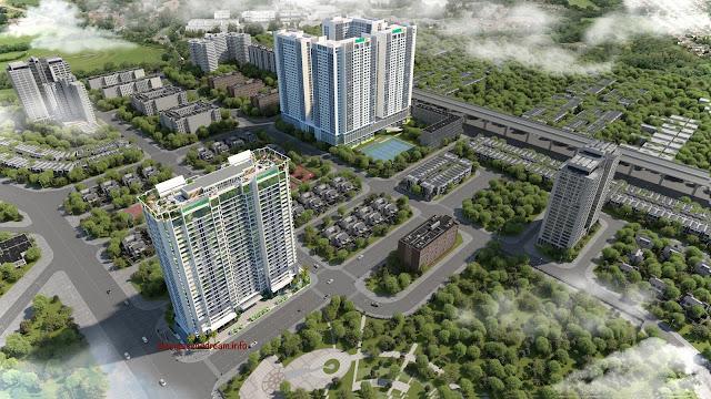 Phối cảnh chung cư Eco Dream trong khu đô thị Tây nam Kim Giang