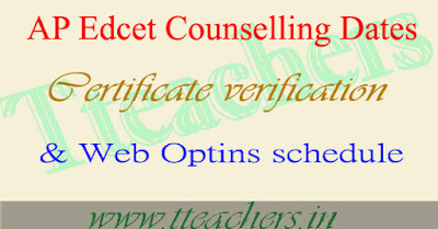 APEdcet Counselling Dates 2017 Certificate Verification web options entry schedule