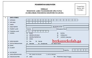 Download Formulir Pendataan Ulang E-PUPNS 2015