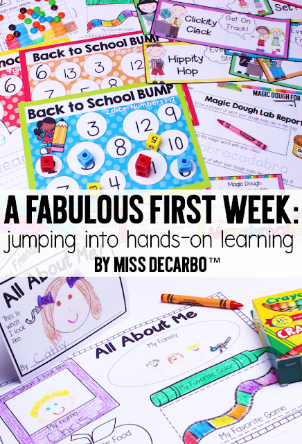 A BIG Collection of Fun and Engaging Activities, Lessons, and Ideas for the first week of school! - by Miss DeCarbo