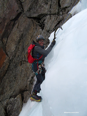 Parasol Gully, Dixville Notch, ice climbing, multi pitch, hero ice, NKGphoto.com