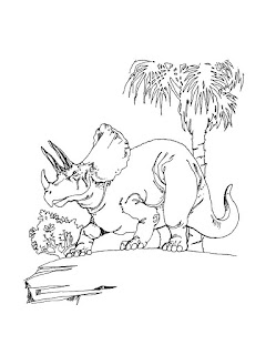 Triceratops Coloring Sheet For Kids